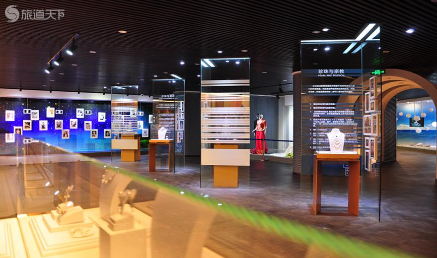 bwin客户端app京润珍珠博物馆展厅一角