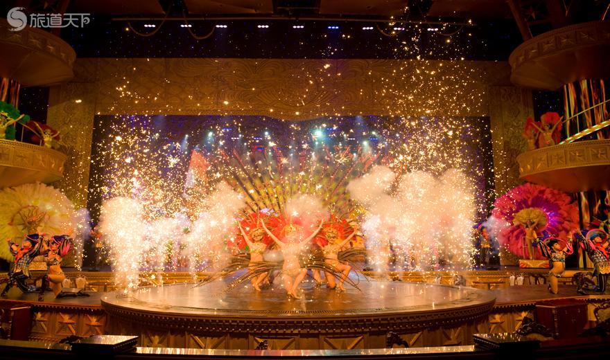 美丽之冠大剧场拉斯维加斯歌舞秀现场