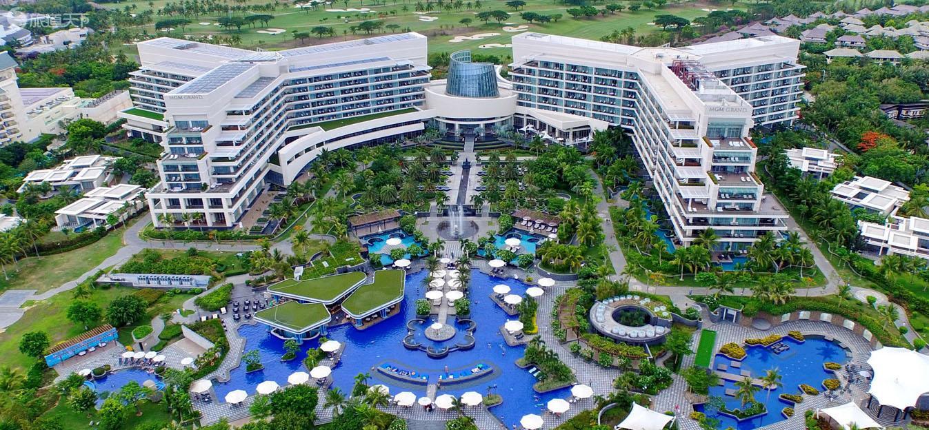 入住三亚美高梅度假酒店2晚含每日早餐+畅享2场红峡谷18洞果岭击球