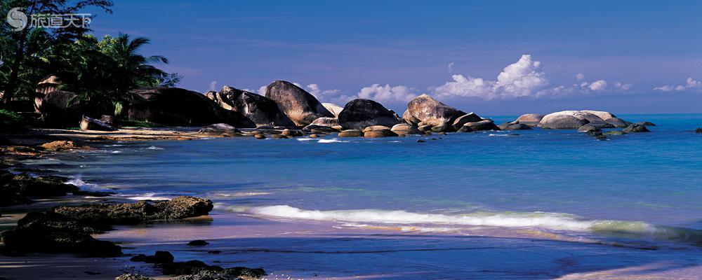 天涯海角海滨巨石